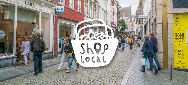 lokaal winkelen - shop local - winkelstraat
