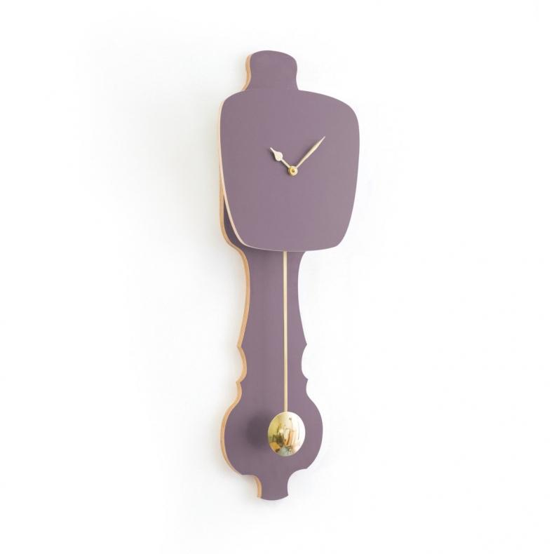 mauve lavender gold clock